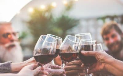 people drinking wine on deck (1)